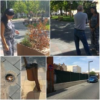 Ciudadanos Azuqueca vuelve a quejarse del mal estado de un espacio plúbico, la plaza General Vives