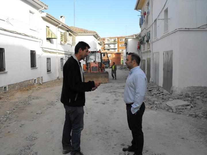 Ya ha comenzado la reforma integral del espacio situado entre las calles Argentina, Colombia y Núñez Sierra de Guadalajara