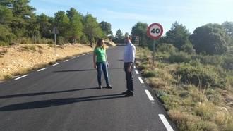 La carretera de acceso de Oter y Carrascosa del Tajo, mejorada por Diputación