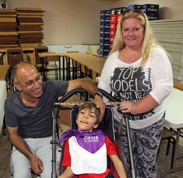 Morillejo se vuelca con Lorenzo Campos, un niño con parálisis cerebral