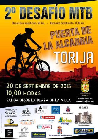 El domingo 20 de septiembre se celebra en Torija el II Desafío MTB Puerta de la Alcarria