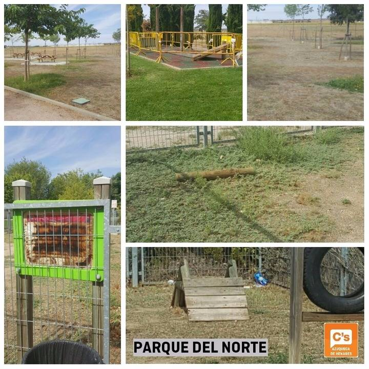 Ciudadanos Azuqueca se queja del estado del Parque del Norte