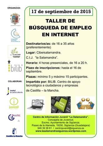 Abierto el plazo para la Inscripción en Sigüenza del Taller para la búsqueda de empleo por Internet