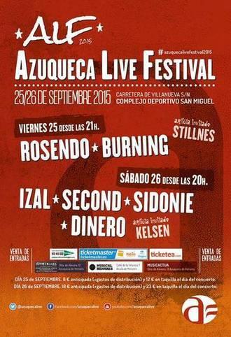 Las entradas para el 'Azuqueca Live Festival' ya se pueden comprar en el municipio