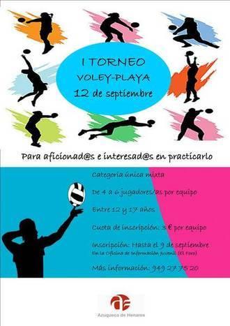 El Ayuntamiento de Azuqueca organiza un torneo de voley-playa para jóvenes