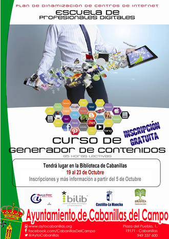 """La Biblioteca Municipal de Cabanillas ofrece un curso gratuito para aprender a generar """"contenidos on line"""""""