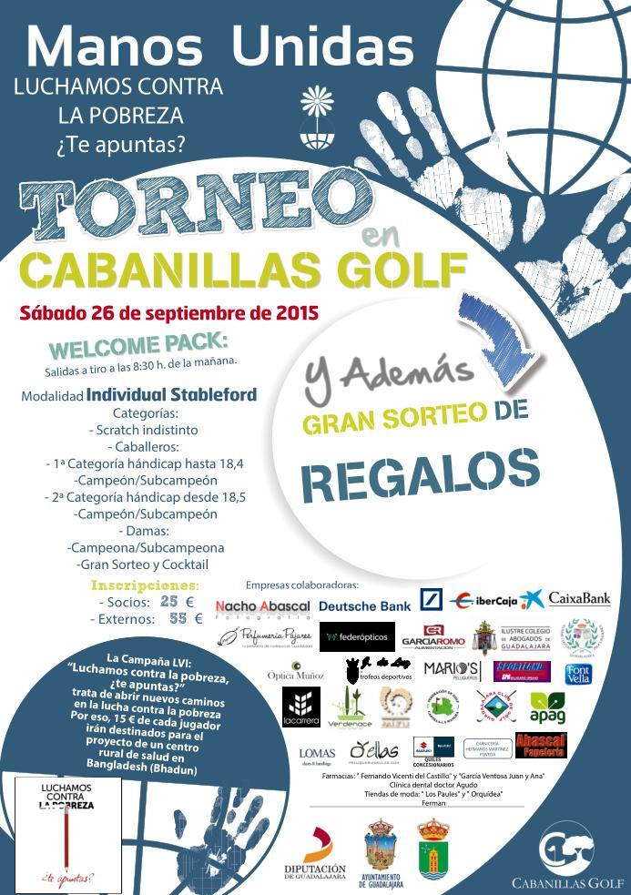 El campo de golf de Cabanillas acoge este sábado el II Torneo de Golf Solidario para Manos Unidas