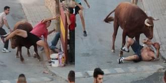 Padre e hijo, heridos por asta de toro en el encierro de Loranca de Tajuña