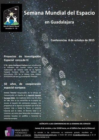 Guadalajara se suma a la Semana Mundial del Espacio con las Conferencias del Parque Científico y Tecnológico