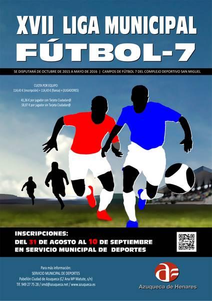 Abierta la inscripción en la Liga Municipal de Fútbol 7 en Azuqueca