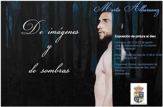Marta Albarsanz expone en Jadraque su colección pictórica 'De imágenes y de sombras'
