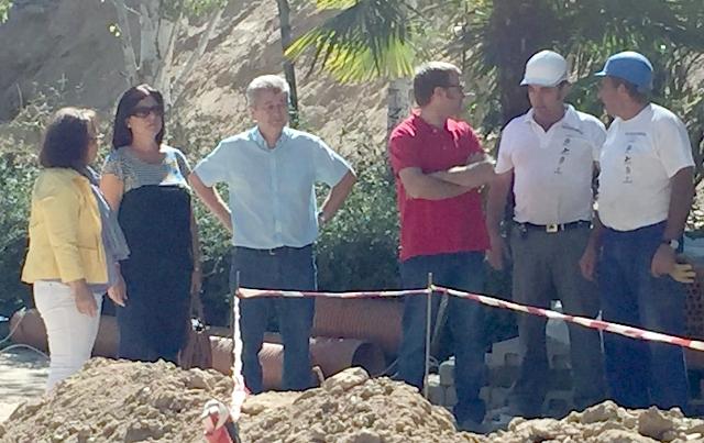 Isabel Nogueroles visita las obras de mejora del parque de la calle Córdoba