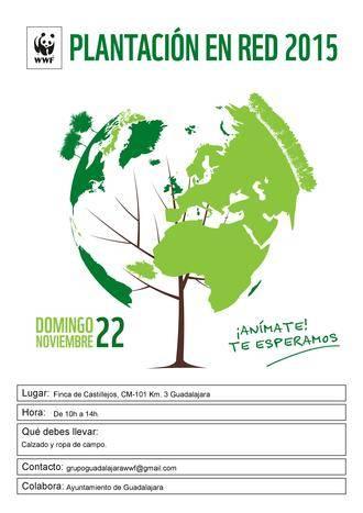 El Ayuntamiento de Guadalajara colabora en la Plantación en Red 2015 organizada por WWF