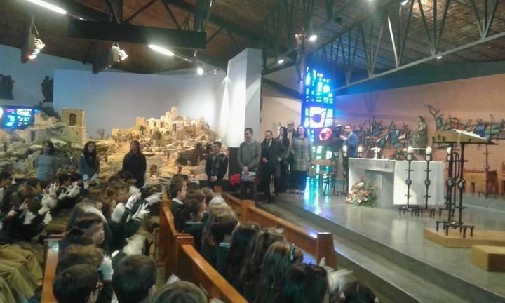 Antonio Román felicita la Navidad al Colegio Diocesano en su 50 aniversario