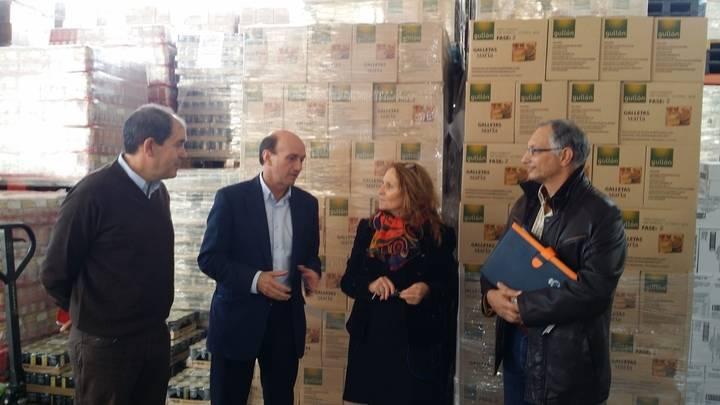 El subdelegado del Gobierno visita el Banco de Alimentos en el inicio de la 2ª Fase del Plan 2015 de ayuda alimentaria