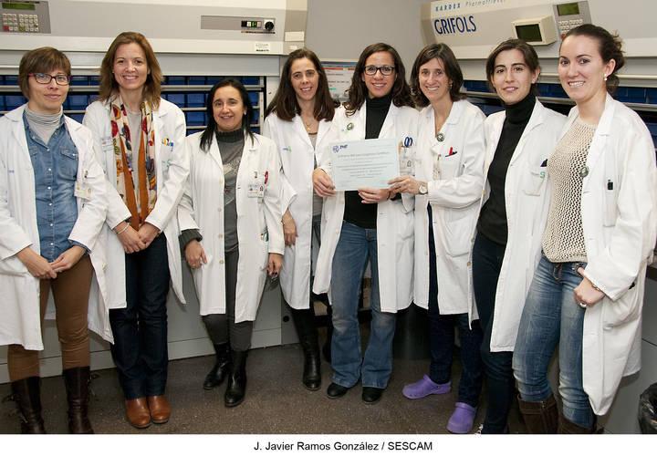 Nuevo reconocimiento a los profesionales del Servicio de Farmacia del Hospital Universitario de Guadalajara