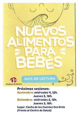 La Biblioteca de Azuqueca celebra en noviembre dos sesiones del programa 'Nuevos alimentos para bebés'