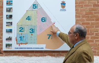 El cementerio de la capital cuenta con una nueva cartografía que facilita la localización de los patios del recinto