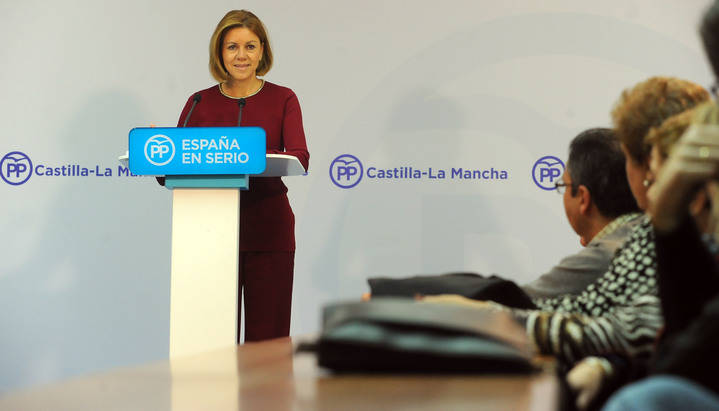 """Cospedal: """"El PP presenta una rebaja de impuestos para mejorar la vida de los españoles"""""""
