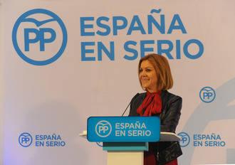 Cospedal dice en Guadalajara ante 500 personas que el PP