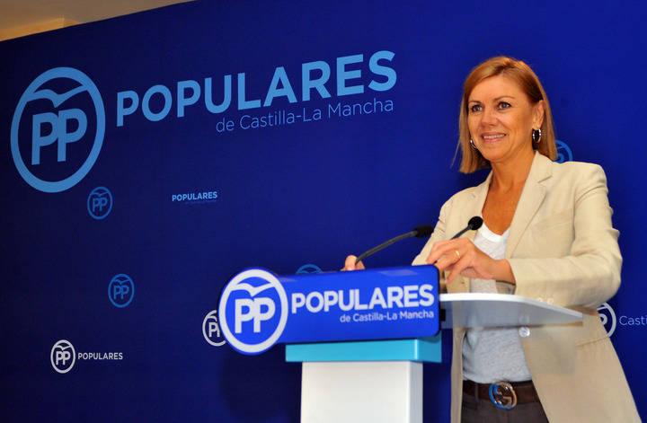 Cospedal denuncia que el Gobierno de Page lo único que ha hecho en cien días ha sido destruir todo lo que era bueno para Castilla-La Mancha
