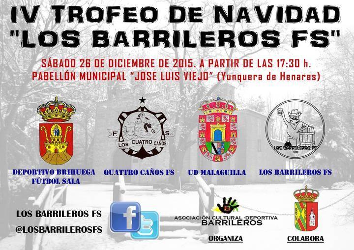 Los Barrileros FS organiza su IV Trofeo de Navidad en Yunquera