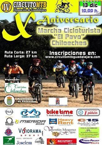 El próximo domingo 13 de diciembre se celebra la X Marcha MTV el Pavo de Chiloeches, última prueba del Circuito Diputación de Guadalajara