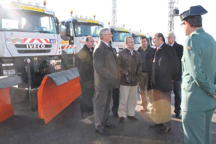 Gregorio visita el Centro de Conservación y Explotación de Carreteras del Ministerio de Fomento en Guadalajara