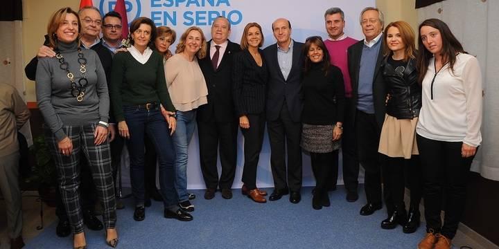 """Cospedal lamenta en El Casar que el PSOE """"haga una política de destrucción y quiera eliminar el Convenio Sanitario"""""""