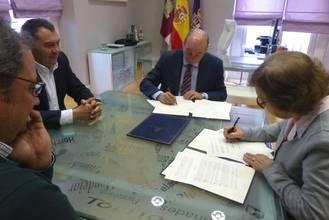 La Diputación firma un convenio con AFAUS para colaborar con su Centro Especial de Empleo