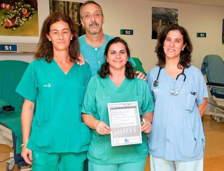 """El Servicio de Anestesia, Reanimación y Terapéutica del Dolor del Hospital de Guadalajara recibe el Diploma """"Hospital Seguro"""""""