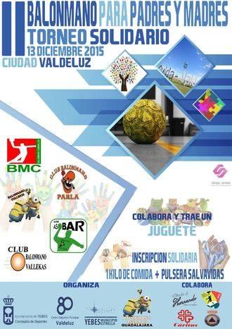 El Centro Deportivo Municipal 'Valdeluz' acoge este domingo el II Torneo Solidario de Balonmano
