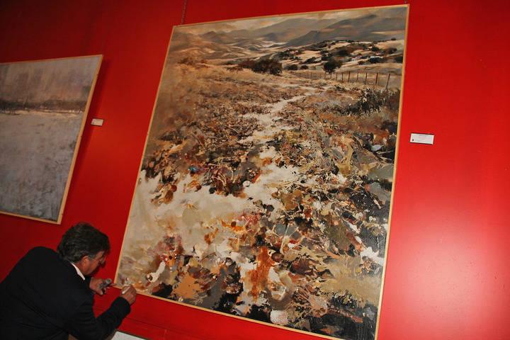 Pedro Lobato Hoyos, primer premio Fermín Santos, firma su obra