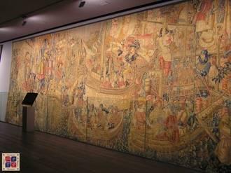 La colegita de Pastrana completa la restauración de sus tapices de la serie Alcázar-Seguer