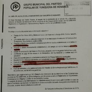 El PP de Yunquera denuncia que lleva más de un mes esperando a que el Ayuntamiento les entregue una documentación que solicitaron