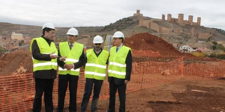 Gregorio visita las obras del futuro Parador de Molina
