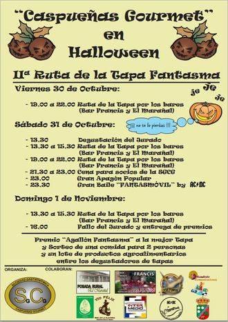Caspueñas propone para este Halloween su II Ruta de la Tapa Fantasma