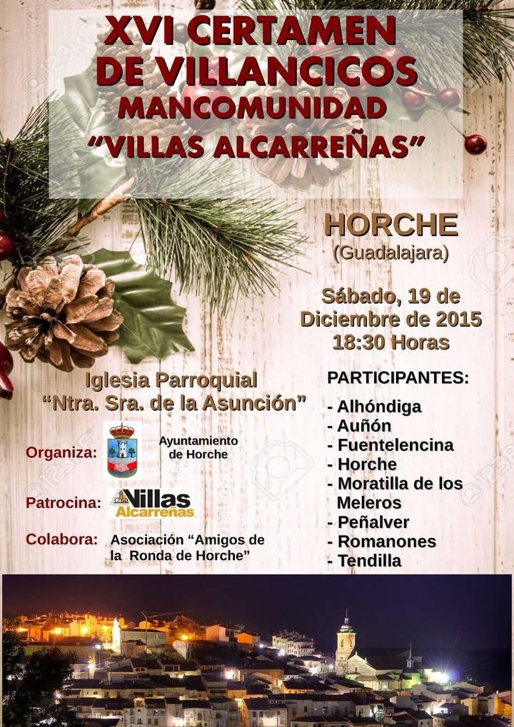 """Horche acoge este sábado el XVI Certamen de Villancicos de la Mancomunidad """"Villas Alcarreñas"""""""