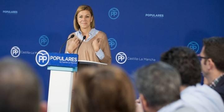 Cospedal lamenta que se destruya todo lo bueno que el PP ha realizado para salvar el estado del bienestar en Castilla-La Mancha