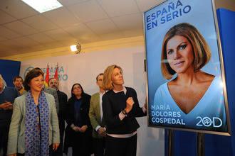 """Cospedal: """"España necesita al PP cuatro años más para que la recuperación económica y la creación de empleo se consoliden"""""""