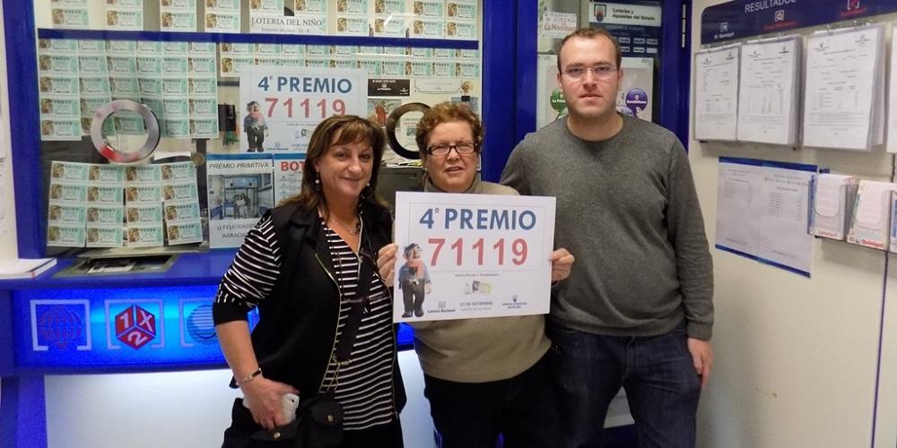 Un cuarto premio de la Lotería de Navidad, el 71.119, cae en ...