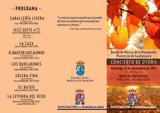 """La Banda Provincial ofrecerá su """"Concierto de otoño"""" el domingo en Molina"""