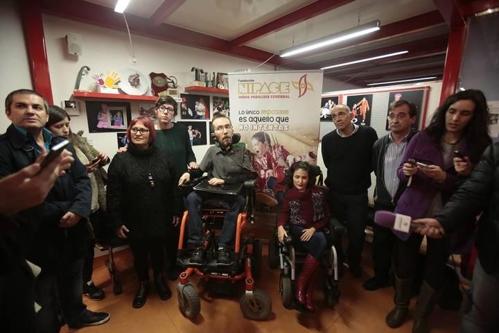 Echenique, Virginia Felipe y Pilar Lima visitan la Fundación Nipace en el Día Internacional de la Diversidad Funcional