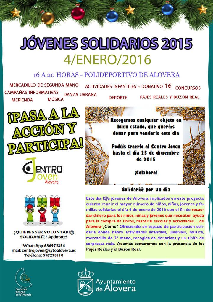 El 4 de enero los 'Jóvenes Solidarios' se ponen en acción en Alovera