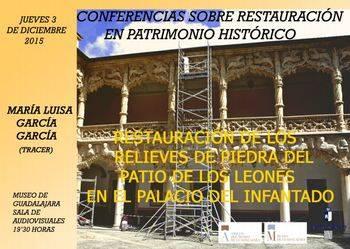 Conferencia sobre la restauración del Patio de los Leones del Palacio del Infantado en el Museo de Guadalajara