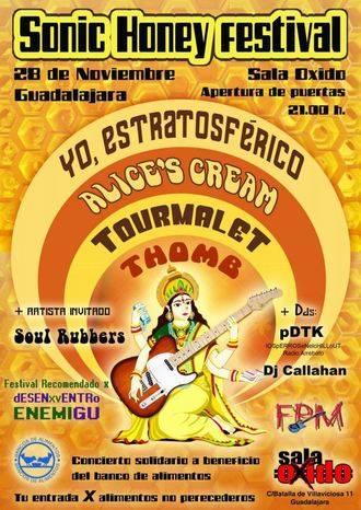 La Sala Óxido acoge el Sonic Honey Festival en beneficio del Banco de Alimentos de Guadalajara