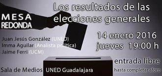 La UNED de Guadalajara invita a una mesa redonda sobre las últimas elecciones generales