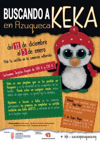 La campaña 'Buscando a Keka' de Azuqueca concluye con el sorteo de seis tarjetas regalo