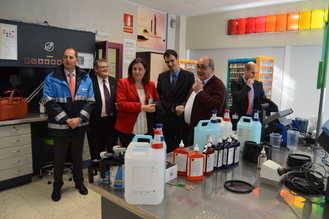 La consejera de Economía, Empresas y Empleo visita la empresa BASF Española en Guadalajara