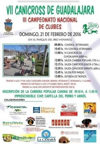 El domingo 21, VII Canicross de Guadalajara, tercera prueba del Circuito Diputación